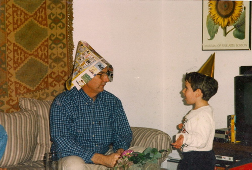 grandfather and grandson, March 2007