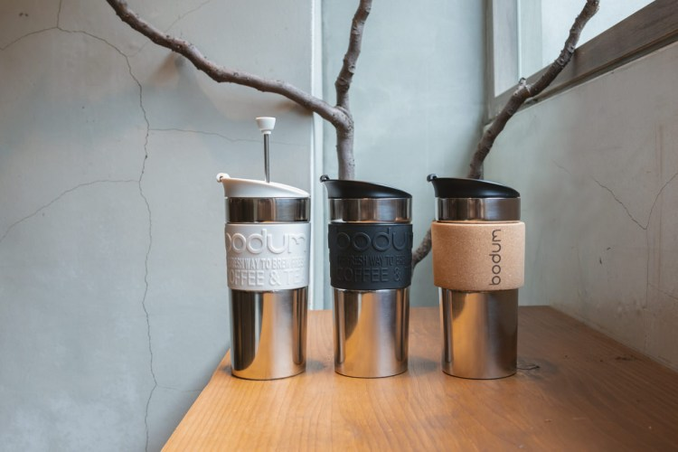 BODUM TRAVEL PRESS 濾壓式不鏽鋼隨行杯-嘎哩咖啡,環保與時尚生活態度並容/旅咖啡系列之三