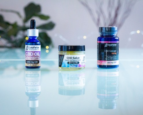 Full Spectrum CBD Tincture, CBD Salve and CBD Gelcaps