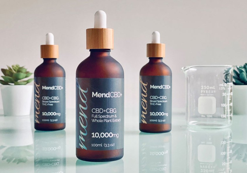 Mend CBD CBG Extra Strength Hemp Extract Tincture Drops