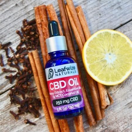 Full Spectrum CBD Oil Tincture Cinnamon Clove Orange