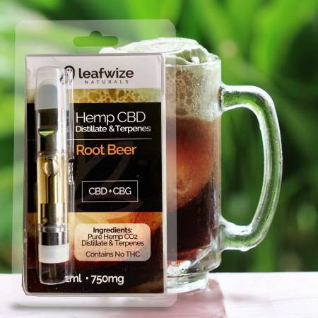 Hemp CBD Vape Cart Root Beer