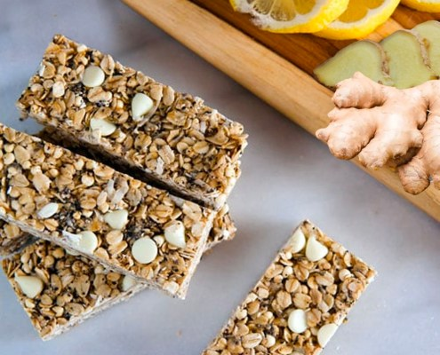 CBD recipes ginger lemon breakfast bars