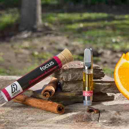CBD vape cartridge cinnamon clove orange