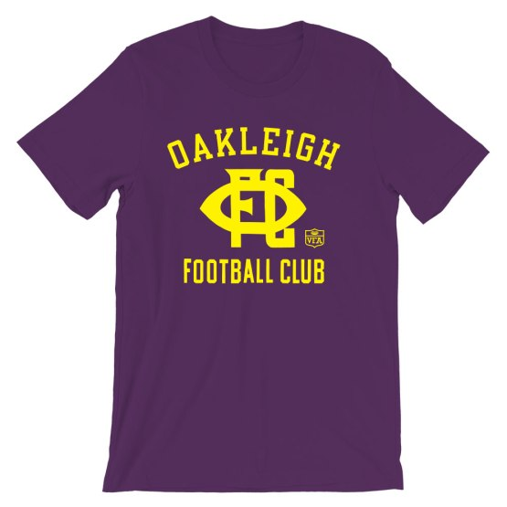 oakleigh football club retro shirt purple