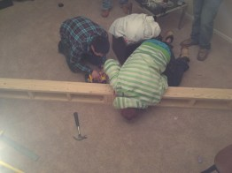 The boys and build-out