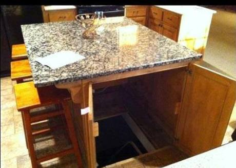 Kitchen island secret