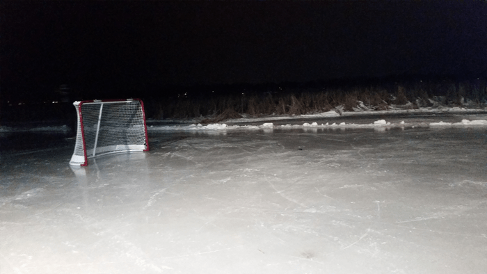 hockey net pond hockey