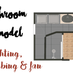 Bathroom Remodel: Plumbing, Electrical & Exhaust Fan