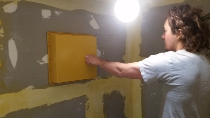 inset recessed shower niche DIY
