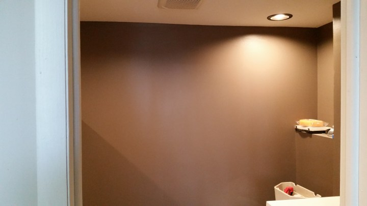 brown paint walls