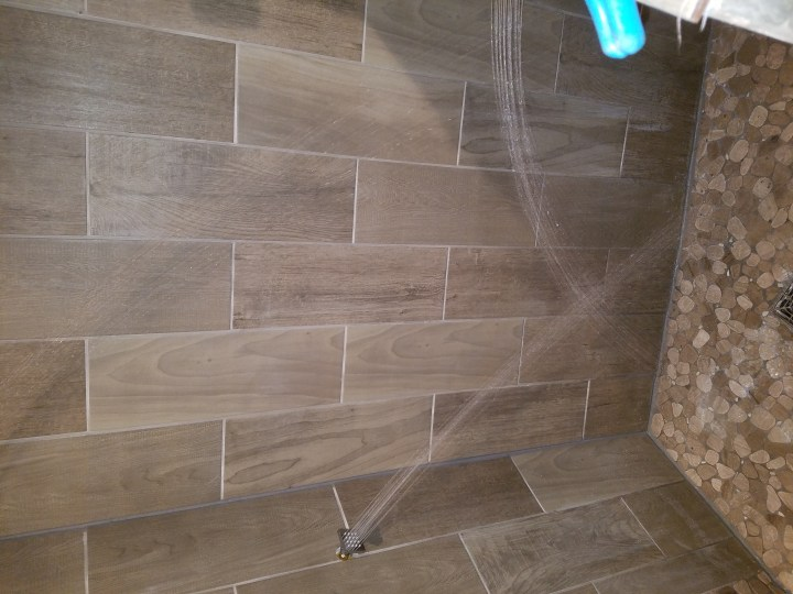tile shower head rain shower DIY