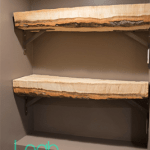 DIY rustic shelf