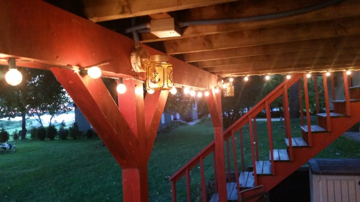 patio lighting update