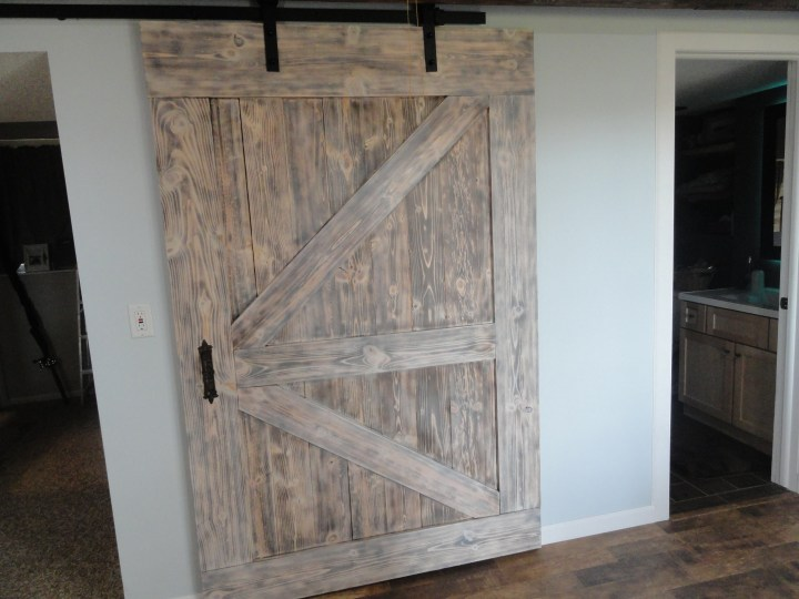 barn door handle DIY hardware