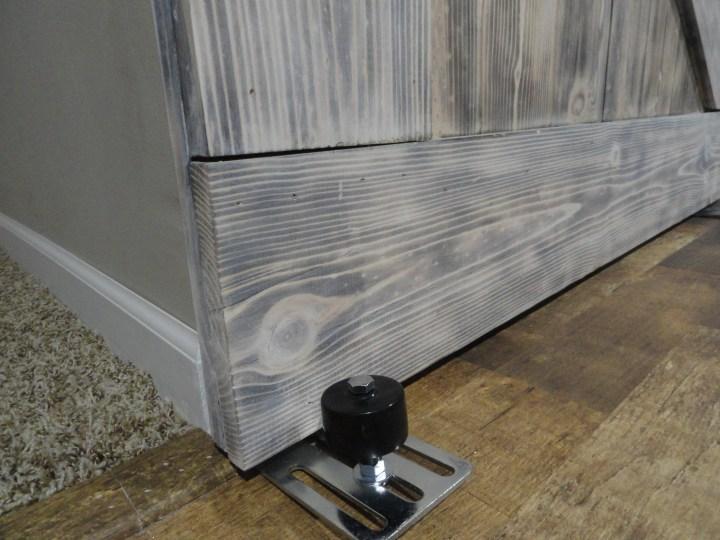 barn door stopper wheel track