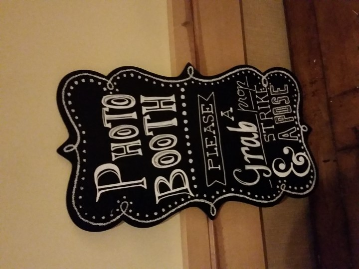 photo booth chalk paint sign DIY