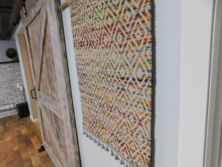DIY Wall hanging rug tapestry woven