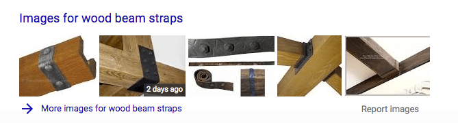 faux wood beam straps