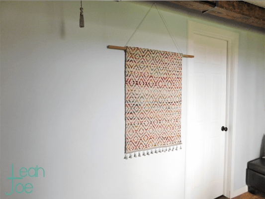 DIY woven wall hanging tapestry
