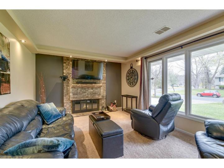 brick fireplace mantle accent wall