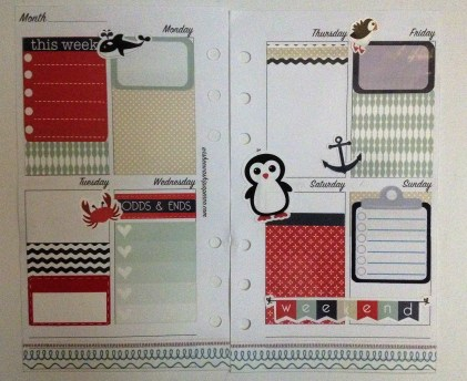 5th layout using Oh Hello Stationery Co. arctic mini weekly kit and clipboard checklist from Stickeriffic