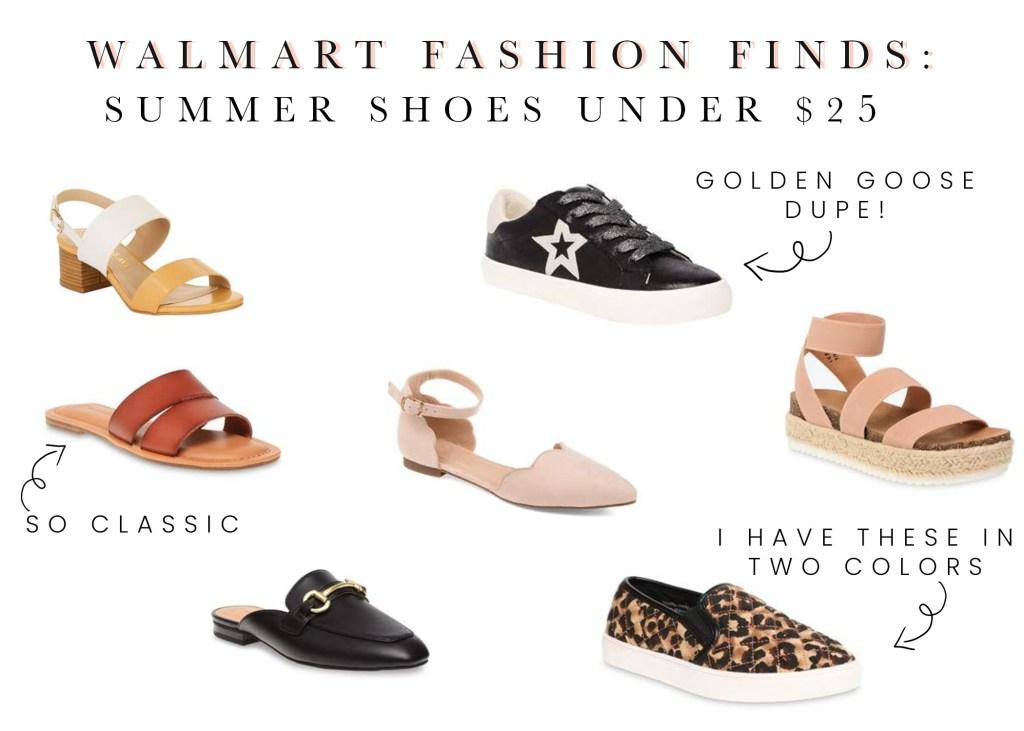 Walmart Summer shoes and sandals under $25 2020