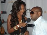Chatting with producer Jermaine Dupri at the Ludacris Akademiks launch party in Los Angeles