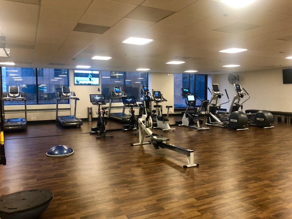 The gym of the Saint Kate Arts Hotel