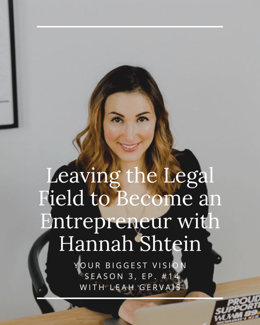 Hannah Shtein is a prime example of what it means to take purpose into your work. Tune in to hear how her path led her to entrepreneurship.