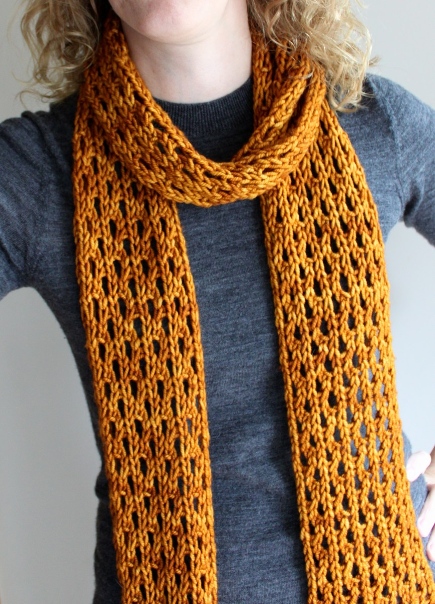 Knitting Scarf Patterns Using Large Needles : Lengthy Lace Scarf Leah Michelle Designs