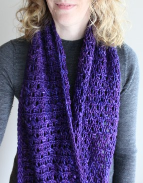 Bulky Lace Cowl Long
