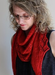 Vine Stripe Shawl modelled