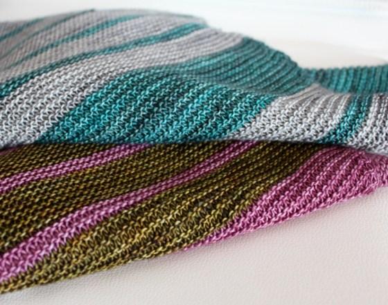 8 Simple Stripes Shawls