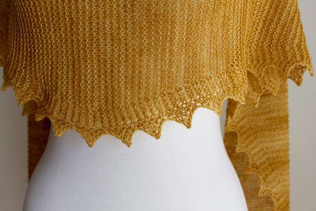 Free Knitting Patterns Jagged Triangular Scarf Leah Michelle Designs