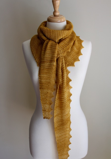 Jagged Triangular Scarf Tied