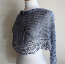 Spring Rain Shawl side view