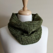 Diamond Purl Cowl rolled