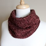 Honeycomb Eyelet Cowl rolled