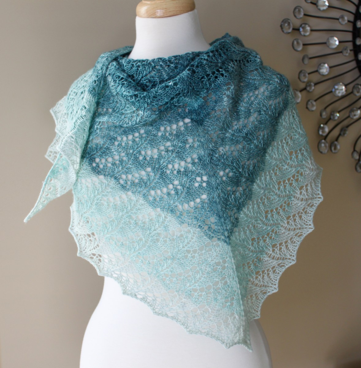 Cloudy Skies Shawl front