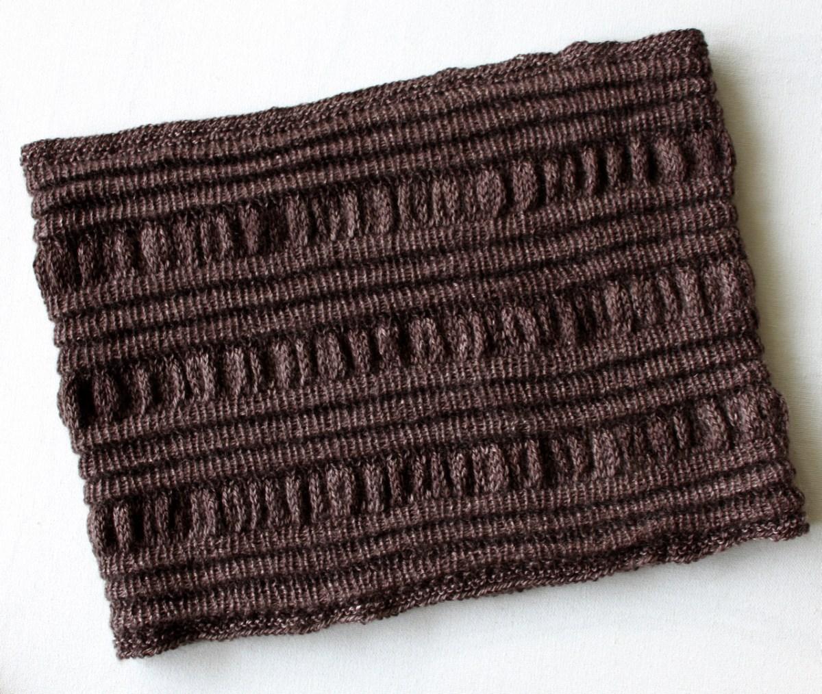Ruffles Pleats Cowl flat