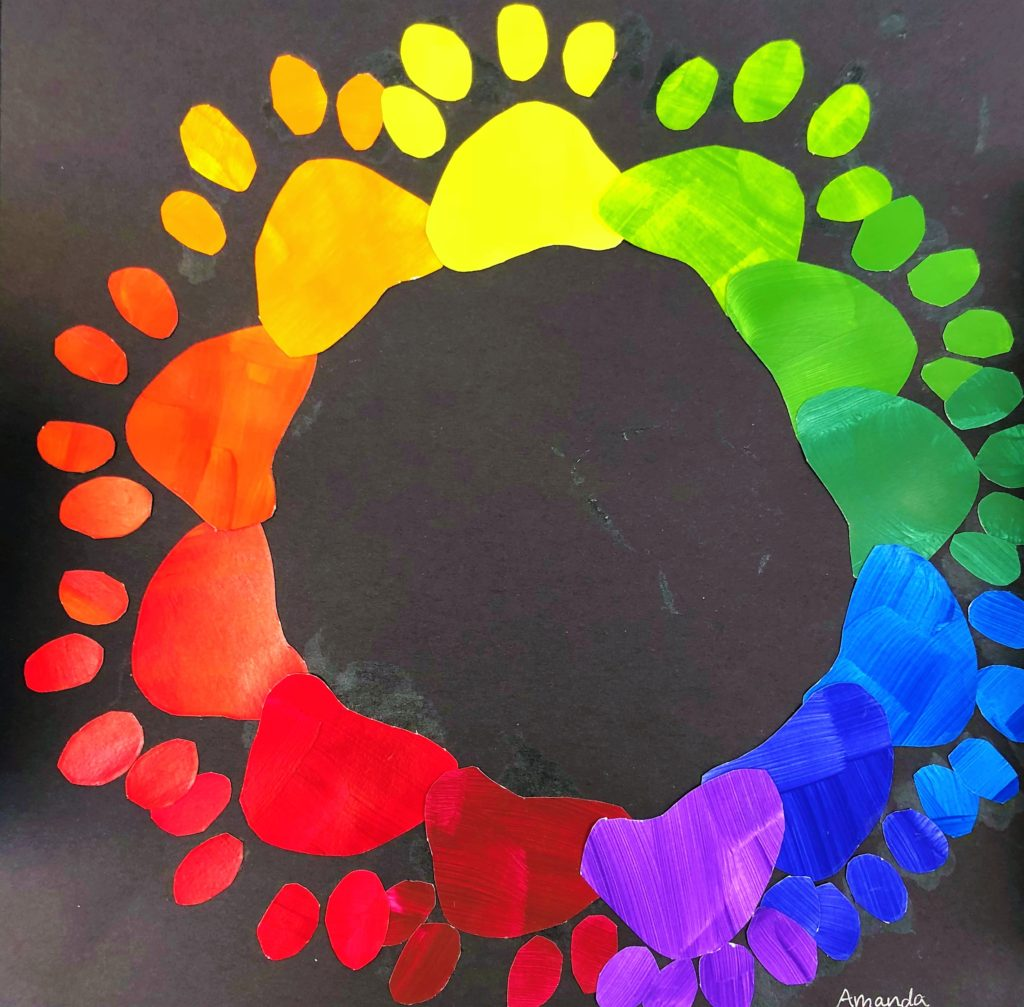 Middle School Creative Color Wheel Art Lesson For Kids
