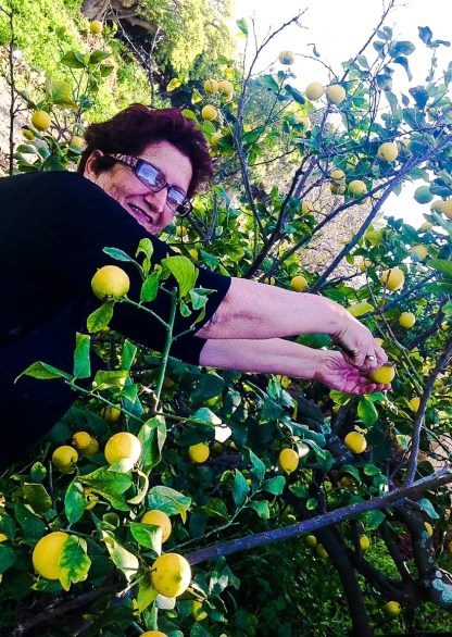 Jane Bonnici in the kitchen garden at Phoenicia Hotel Floriana