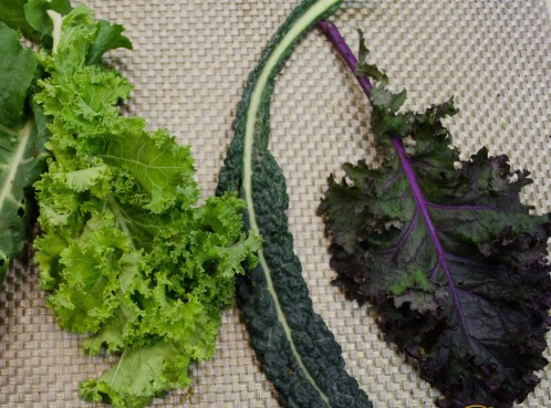 Three types of Kale