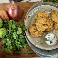 courgette mint fritters 2