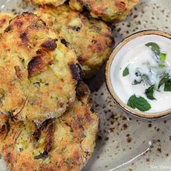 courgette mint fritters 4