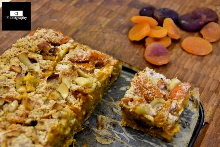 apricot crumble slice dried apricots