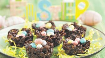 easter nests with cornflakes