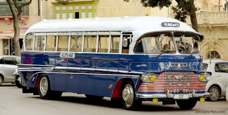 Old Maltese Bus by Gino Galea