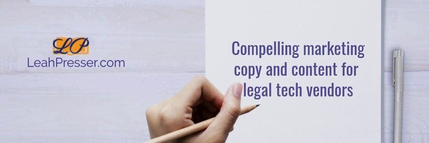 legal marketing writer